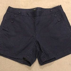 J. Crew Sailor Style Polka Dot Shorts - Size 6
